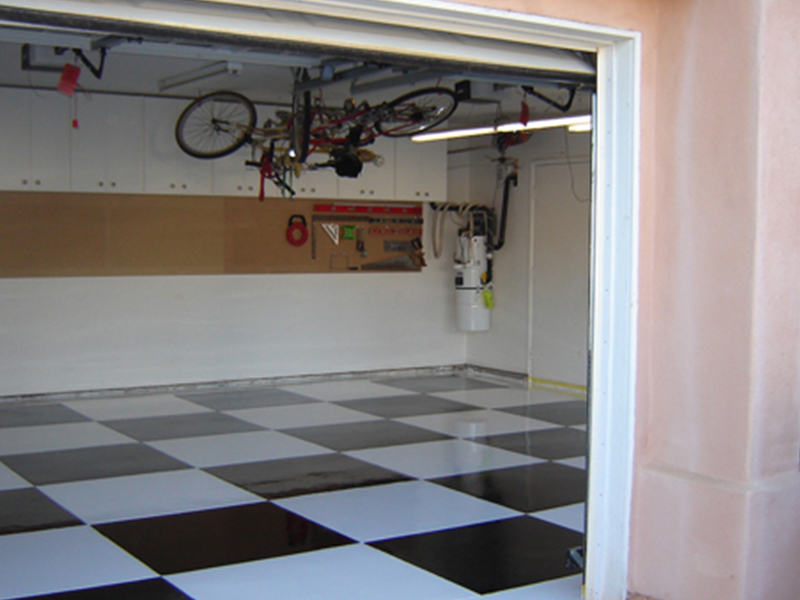 Checkered Epoxy Flooring