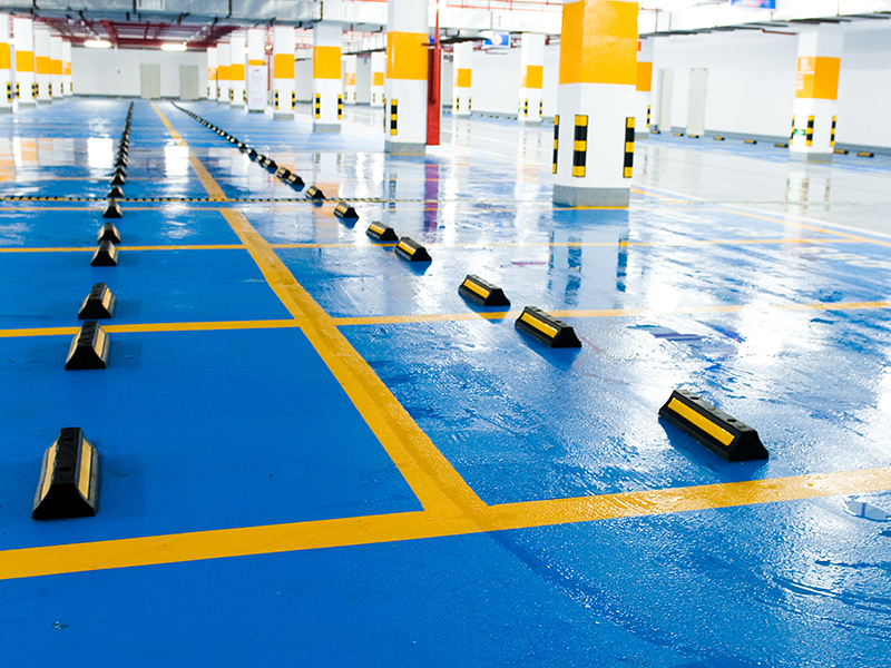 Epoxy Blue Floor